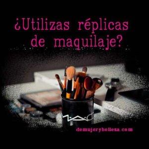 Riesgos de usar réplicas de maquillaje o maquillaje falso