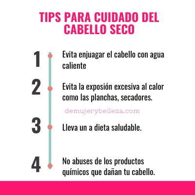 Tips para cuidado del cabello seco