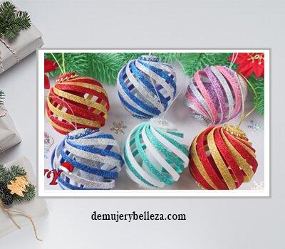 esferas de navidad manualidades
